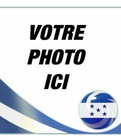 Effet photo pour ajouter le drapeau du Honduras sur votre photo en ligne