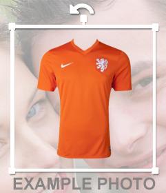 Orange maillot de léquipe de football néerlandaise à coller sur vos photos