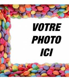 Entourez vos photos avec des bonbons colorés éditer cet effet libre