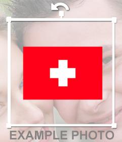 Autocollant pour ajouter à vos photos tha drapeau de la Suisse pour