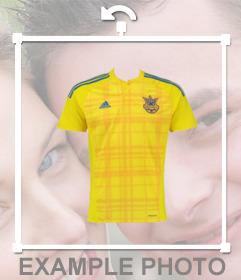 Prise en charge de léquipe de football en Ukraine avec cet effet de photo modifier