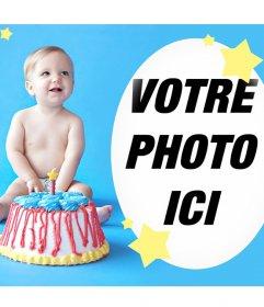 Effet pour souhaiter un joyeux anniversaire à un bébé
