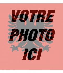 Filtre photo avec le drapeau de lAlbanie parfait pour votre photo de profil