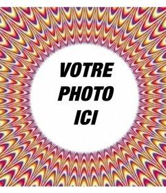 Cadre pour votre photo avec un effet visuel du mouvement