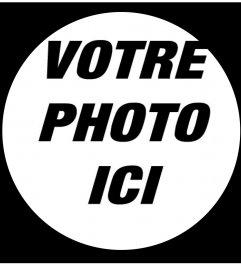 Recadrer votre photo en cercle avec cette ligne effet photo