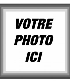 Cadre avec bords gris où vous pouvez ajouter votre photo en ligne