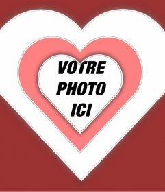 Boîte de photo damour pour ajouter votre photo à lintérieur dun coeur avec effet dynamique