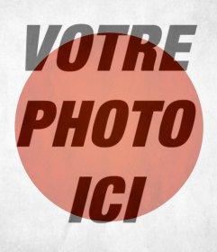 Drapeau du Japon de mettre sur votre photo