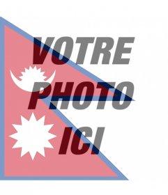 Effet photo de drapeau du Népal pour votre photo de Free filtre du drapeau du Népal à mettre sur votre photo. En ligne effet parfait pour votre photo de profil Facebook de photos
