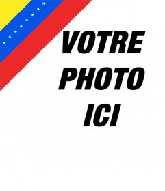 Effet photo de drapeau du Venezuela dans le coin de votre photo