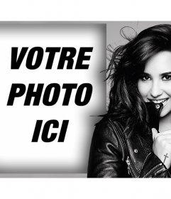 Effet photo avec la chanteuse Demi Lovato pour télécharger votre photo
