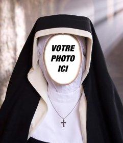 Photomontage dune religieuse pour mettre la photo de votre visage
