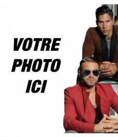 Effet de photo en ligne avec les chanteurs Chino et Nacho