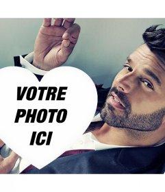 A des effets spéciaux de photos pour les fans Ricky Martin