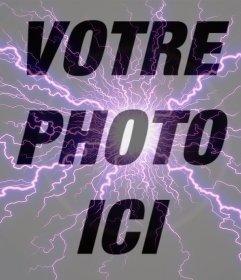 Effet photo dun éclair violet pour vos photos