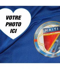 Photomontage avec léquipe de football bouclier Haïti pour modifier votre photo