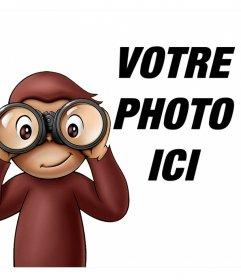 Leffet photo pour enfants de Curious George à votre photo