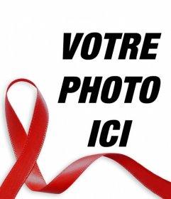 Effet photo dun ruban rouge du sida pour vos photos