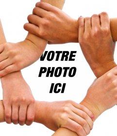 Effet de Photo de mains jointes pour télécharger votre photo