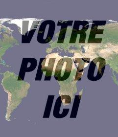 Effet photo du monde à mettre sur votre photo de profil