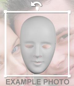 Masque blanc pour coller sur vos photos avec cette photo originale effect