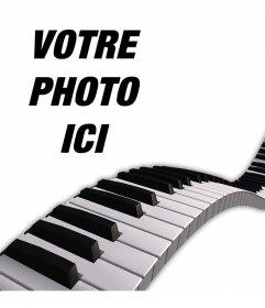 Décorez vos photos Ajout dune des touches de piano sur eux