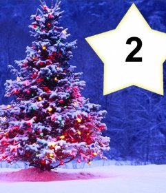Collage de Noël avec un arbre à mettre deux photos