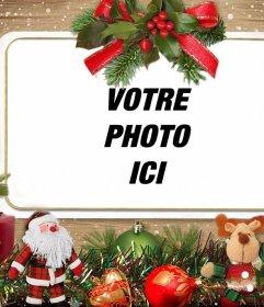 Effet photo avec des ornements de Noël pour télécharger votre photo