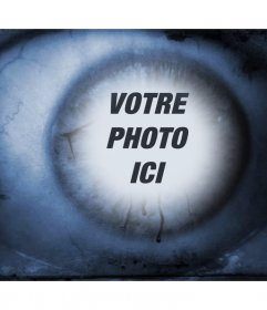 Terreur oeil où vous pouvez ajouter votre photo dans la réflexion