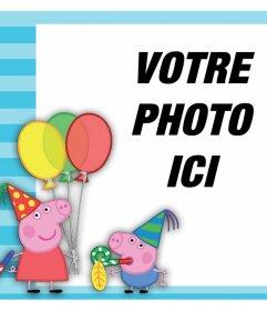 Effet avec Peppa Pig et George célébrer de télécharger une photo