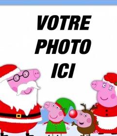 Effet photo de Noël avec la famille