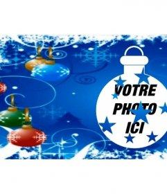 Couvrir photo pour Facebook avec des boules de Noël