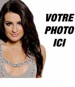 Photomontage avec Lea Michelle, Glee actrice