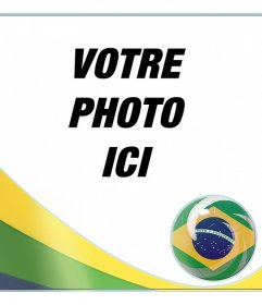 Montage avec le drapeau du Brasil ajouter vos photos de fond