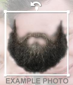 Photomontage de mettre une barbe sur votre photo