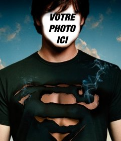 Photomontage personnifier Tom Welling de Smallville comme Superman