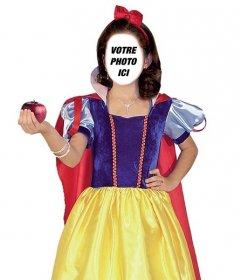 Photomontage de Blanche-Neige pour mettre votre visage effet en ligne