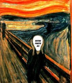 Photomontage de limage Le Cri de Munch pour mettre la photo de votre choix
