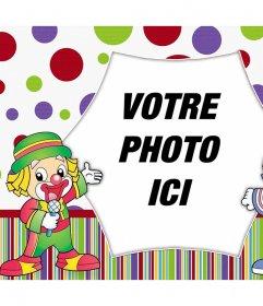 Colorful effet photo avec des clowns pour décorer une photo