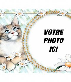 Photomontage de mettre votre photo avec un chaton très mignon