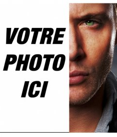 Créer un photomontage fusion moitié du visage de Jensen Ackless vôtre rivalizing vers le côté opposé