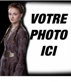 Effet photo éditable pour mettre votre photo à côté de Sansa Stark