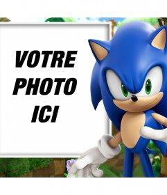 Effet photo avec Sonic à customiser avec votre photo préférée