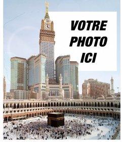 Voyage carte postale à la Mecque, la plus grande ville de lArabie Saoudite