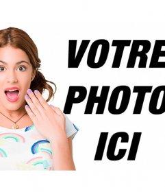 Pose avec Violetta et dire à vos secrets avec ce photomontage
