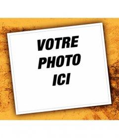 dans ce montage photo pour les photos grand esprit un cadre blanc et fond photoeffets