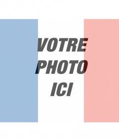 Photomontage de mettre votre photo avec le drapeau de la France à faire en ligne.