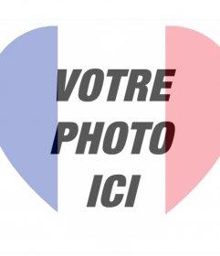 France en forme de coeur drapeau à ajouter à votre photo comme un filtre