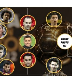 Photomontage de la sélection de la meilleure équipe de lannée, dans lequel vous pouvez mettre une image comme un attaquant