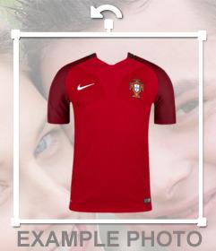 Effet photo pour mettre le maillot de léquipe de football du Portugal sur vos photos